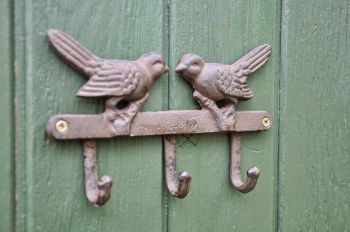 Kissing Birds Coat Hook Accessory