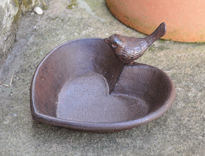 Heart Bird Bath Garden Ornament