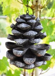 Pinecone Bird Feeder Garden Ornament