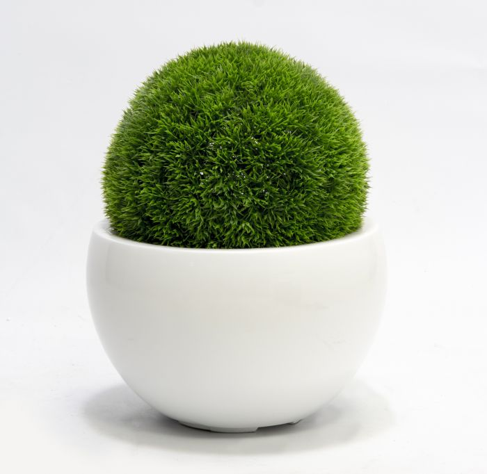 Pair of 28cm Artificial Topiary Grass Balls By Primrose™