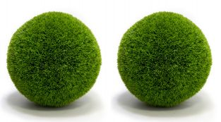 Pair of 38cm Artificial Topiary Grass Balls By Primrose®