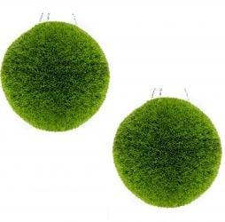 38cm Artificial Topiary Grass Balls By Primrose™