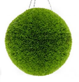 28cm Artificial Topiary Grass Ball By Primrose™