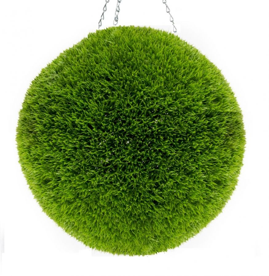 38cm Artificial Topiary Grass Ball By Primrose™