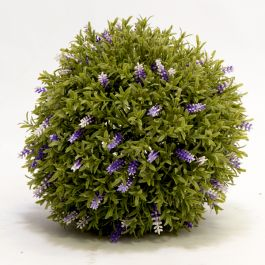 30cm Artificial Topiary Lavender Ball By Primrose™