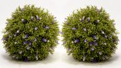 Pair of 25cm Artificial Topiary Lavender Balls By Primrose™