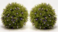 Pair of 25cm Artificial Topiary Lavender Balls By Primrose®