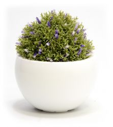 25cm Artificial Topiary Lavender Ball By Primrose™