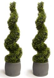 120cm Artificial Topiary Grass Spirals Primrose™