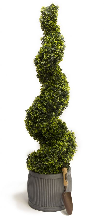 120cm Artificial Topiary Grass Spiral By Primrose™