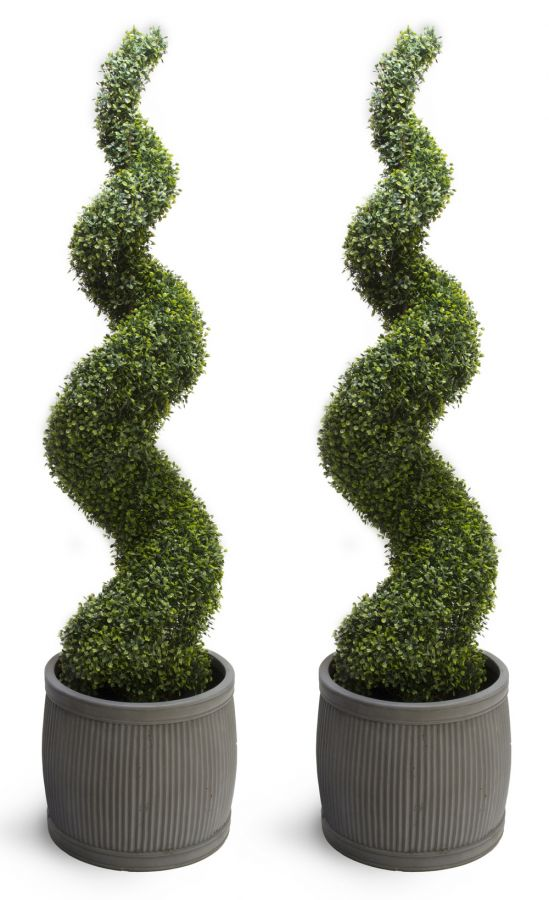 150cm Artificial Topiary Buxus Spirals By Primrose™