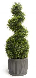 100cm Artificial Topiary Grass Spiral By Primrose™