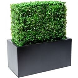 L60cm Boxwood Artificial Topiary Hedge With Zinc Trough By Primrose™