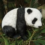 Small Panda Resin Garden Statue - 21cm
