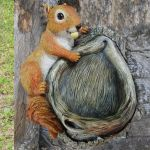 Red Squirrel Bird Feeder - 26cm