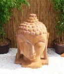 Indian Rainbow Sandstone Buddha Head Statue