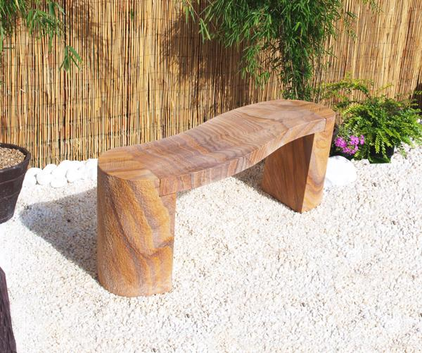 Indian Rainbow Sandstone 1.05m Curved Bench