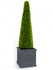 100cm Artificial Topiary Grass Cone With Pot By Primrose™