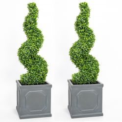 90cm Artificial Topiary Buxus Spirals By Primrose™ - Box Topiary
