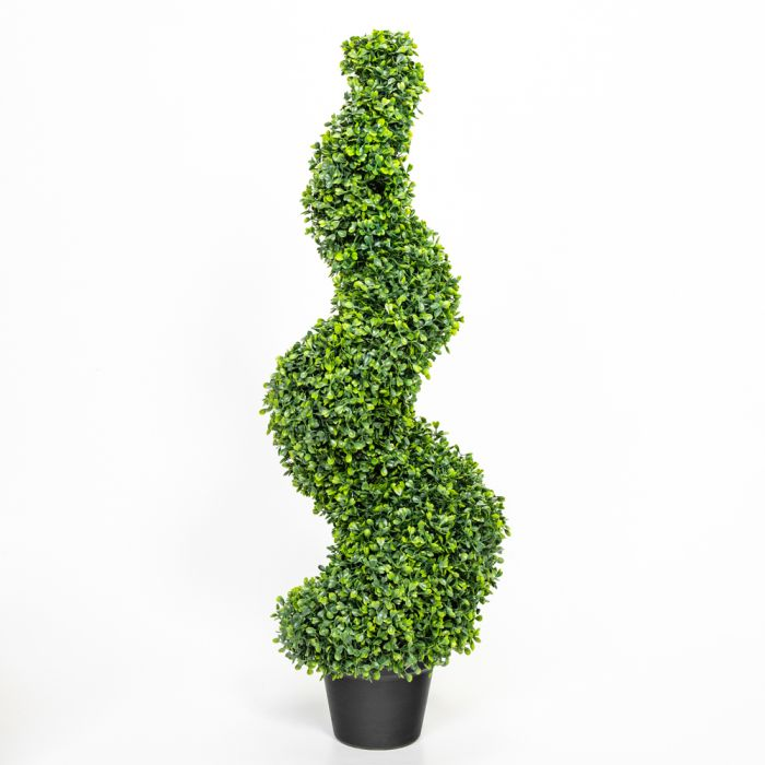 90cm Artificial Topiary Buxus Spiral By Primrose™ - Box Topiary