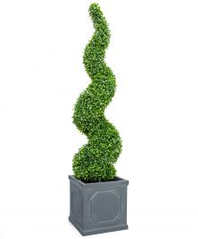 120cm Artificial Topiary Buxus Spiral By Primrose™ - Box Topiary