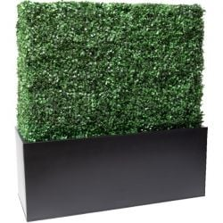 L1m Boxwood Artificial Topiary Hedge With Zinc Trough By Primrose™