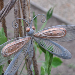 Small Decorative Hanging Metal Californian Dragonfly
