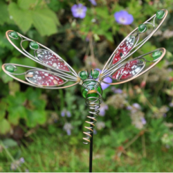 Wire Dragonfly Garden Stake Ornament