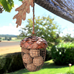 Acorn Metal Hanging Bird Feeder