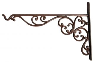 35cm Hanging Basket Bracket - Cast Iron Hook