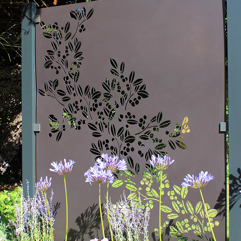 Drift Decorative Screening Fence Panel In Powder Coated Aluminium - 5Ft .8 Inches