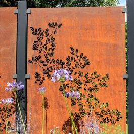 Drift Decorative Screening Fence Panel In Corten Steel - 5ft .8 inches