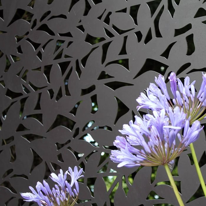 Branches Decorative Screening Fence Panel In Powder Coated Aluminium - 5.8ft