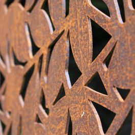 Branches Decorative Screening Fence Panel In Corten Steel - 5.8ft