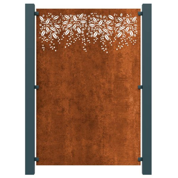 Burst Decorative Screening Fence Panel In Corten Steel 5