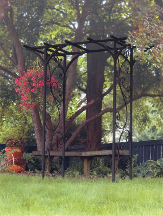 Garden Arch with Vines in Black