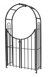 Garden Arch with Gate in Black