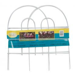 Arch Folding Fence in White 45cm x 2.4m