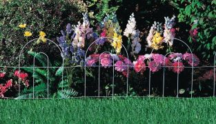 Arch Folding Fence in White