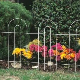 Tall Arch Folding Fence in White
