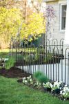 Triple Arch Finial Fence Section in Black 91 x 121cm