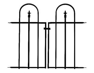 Gate for Triple Arch Finial Fence in Black