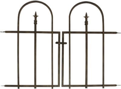 Arched Finial Gate, Brushed Bronze. H68 x W93cm
