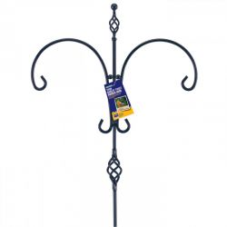 Garden Twin Twist Wrought Iron Effect Hanging Hook
