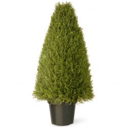 "36"" Juniper Artificial Tree in Green Growers Pot"