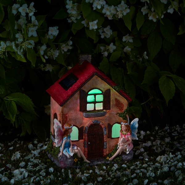 Smart Garden Fairies Only - Elveden Collection Garden Sculpture with Solar Lights