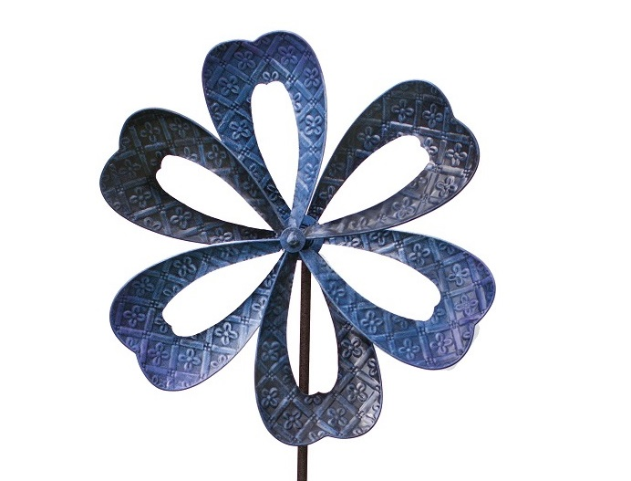 Blue Flower Kinetic Wind Spinner Dia 50cm