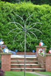 Stainless Steel Flower Wind Spinner Dia 65cm