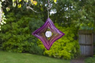 Solar Wave Hanging Wind Spinner Solar Crackle Globe