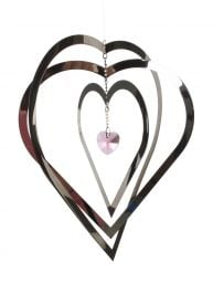 Heart Crystal Hanging Wind Spinner